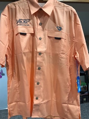 Mojo Fishing Shirt-Foreverlast Logo (Size Large ONLY!)-Coral