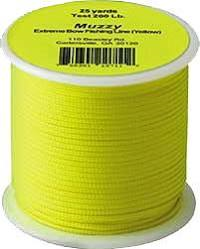 Muzzy  Extreme Bowfishing Line Yellow 200 Lb.