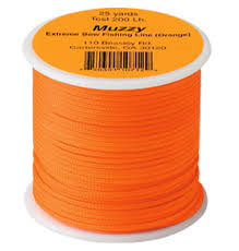 Muzzy Extreme Bowfishing Line Orange 200 Lb.